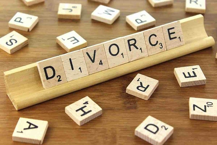 Divorce Spelled Out With Scrabble Pieces