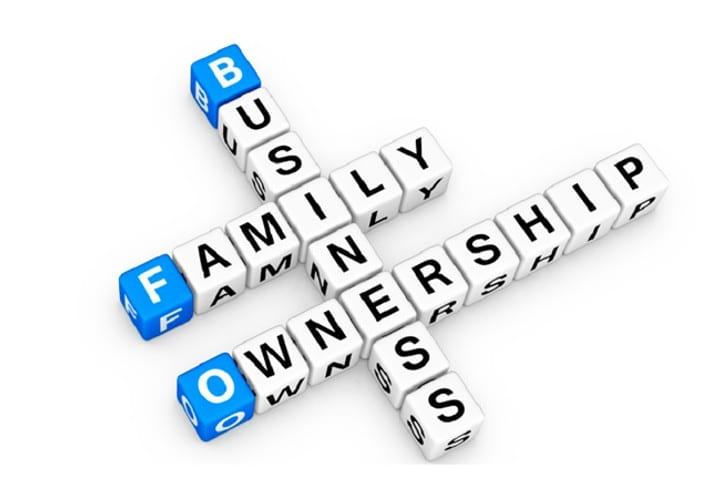 Letters spelling out Business, Family, Ownership