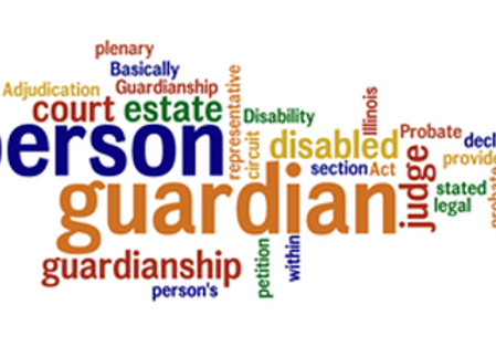 Word Cloud based on the words Person Guardian