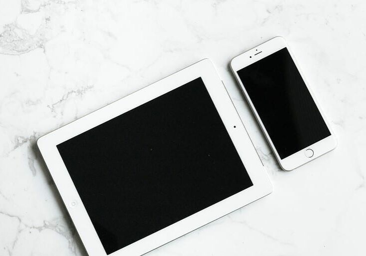 iPad and iPhone on a Desk